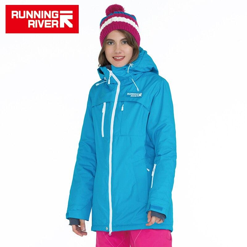 FIUME che scorre Marca Inverno Giacca Snowboard Per Le Donne 4 Colori 4 Formati di Alta Qualità Donna Sport All'aria Aperta Giacche # A5010