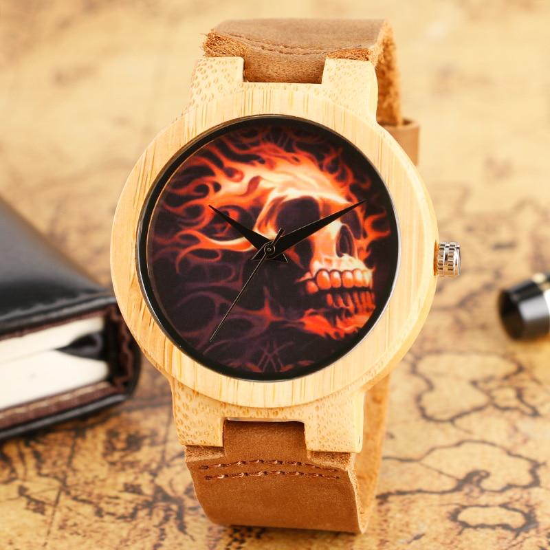 2017 Ручной Наручные Часы Череп - Мужские часы