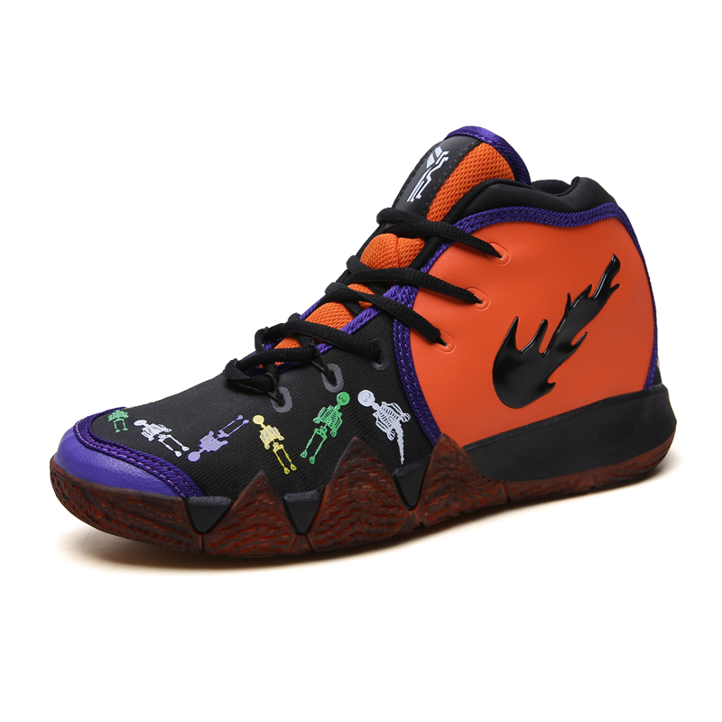 17a40fd54d58 2019 Yellow Sneakers Men Kyrie 4 Basketball Shoes High Top Jordan Shoes Non- slip Wear Resistant Comfortable Orange Shoes Men