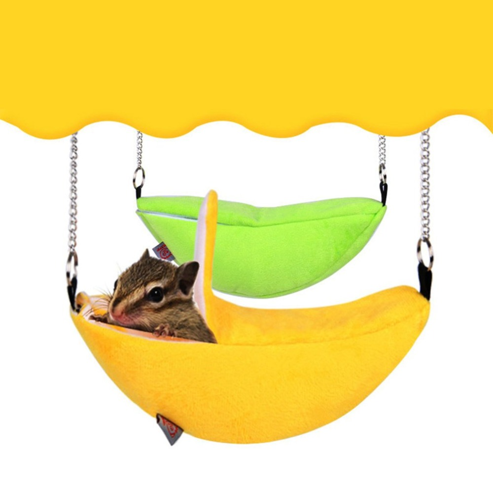 Hamster Cage Soft Banana Shape Breathable Cotton Wool Hanging Sleeping Bed Small Animal Cage For A Hamster