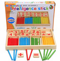1Set Wooden children count stick Montessori Kindergarten early childhood mathematics teaching aids baby toys stick figures