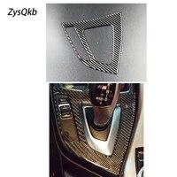 For BMW F20 F21 Carbon Fiber Gear Shift Control Panel Cover Interior Trim Car Styling Sticker 1 Series 116i 118i Accessories