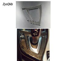 For BMW F20 F21 Carbon Fiber Gear Shift Control Panel Cover Interior Trim Car Styling Sticker 1 Series 116i 118i Accessories