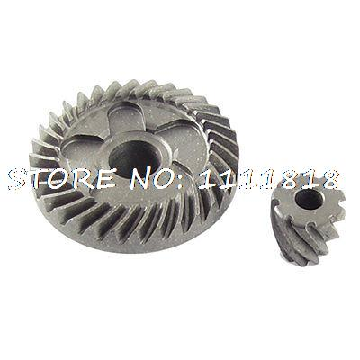 2 Pcs Metal Replacement Spiral Bevel Gear for Bosch GWS 6-100 metal spiral bevel gear set for bosch gws 6 100 angle grinder