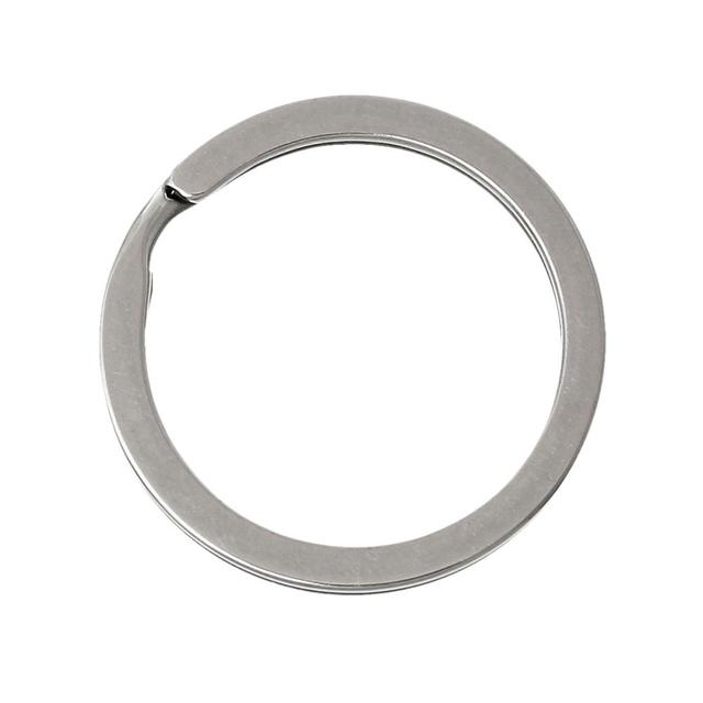 DoreenBeads Stainless Steel Key Rings Split Rings Circle dull silver color 3.0cm