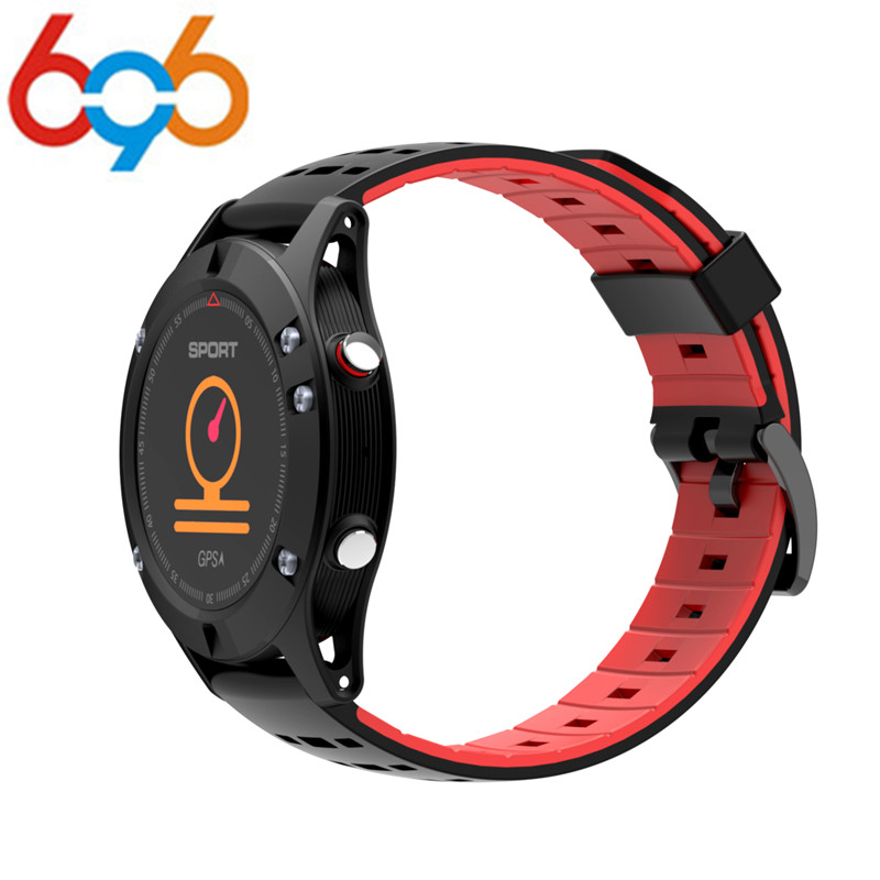 696 2018 NEW OLED F5 GPS Smart watch Altimeter Barometer Thermometer Bluetooth 4.2 IP67 Smartwatch Wearable devices for iOS Andr