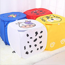 New Covered Cute Animal Debris Storage Box Large Laundry Basket Laundry Baby Toy Storage Basket Storage Basket#S551