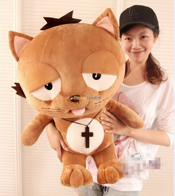 Fancytrader 35\'\' 90 Korean TV Soaps Plush Stuffed Lzay Dinga Cat, Free Shipping FT50250 (4)