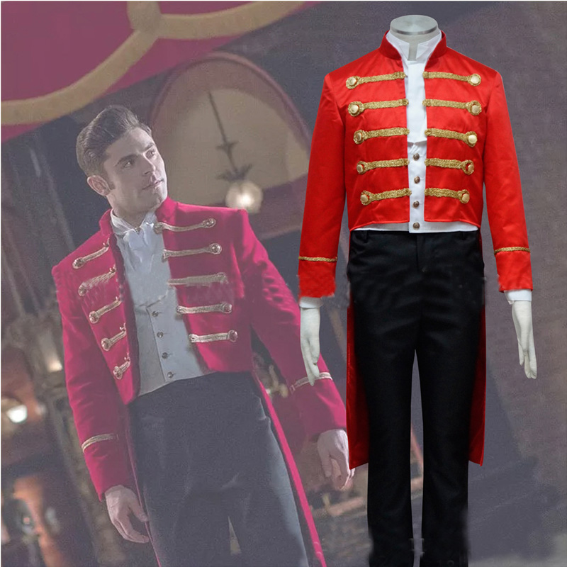 Movie The Greatest Showman Phillip Carlyle Cosplay Costume Men Halloween Musical Theatre Stage Costume Adult Party Costume