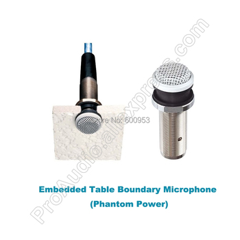 MICWL Pro Omnidirectional table Interface Embedded Table Boundary Microphone Phantom Power