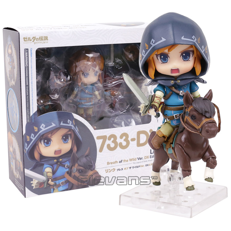 цены Nendoroid Legend of Zelda Breath of the wild Link 733 DX Edition PVC Action Figure Collectible Model Toy