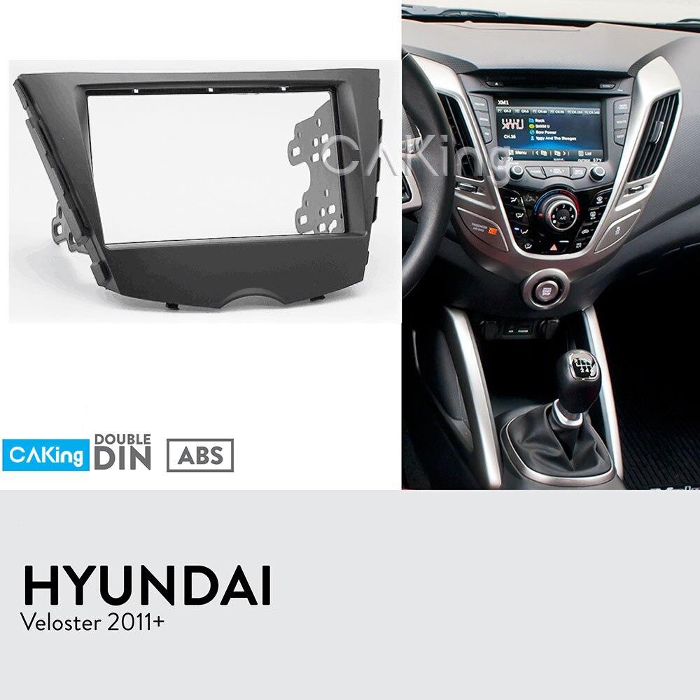 Double Din Car Fascia Radio Panel for HYUNDAI Veloster 2011 Dash Kit Facia Face Plate Adapter