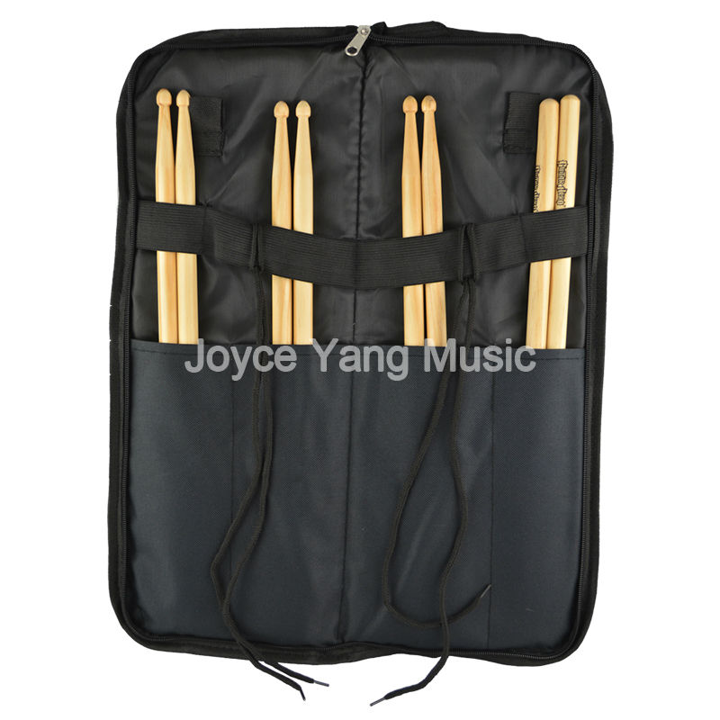 portable nylon drum stick bag soft case with shoulder strap outer pocket drumsticks case free. Black Bedroom Furniture Sets. Home Design Ideas