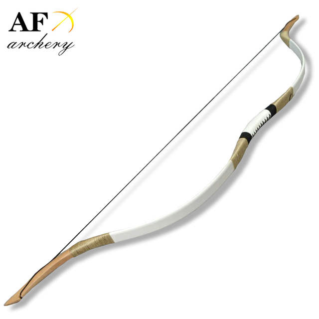 US $77 76 19% OFF|20 100# Archery Fiberglass Bow Handmade Pig Leather  Longbow Ambidextrous Recurve Bow Free Shipping Outdoor Hunting and  Shooting-in