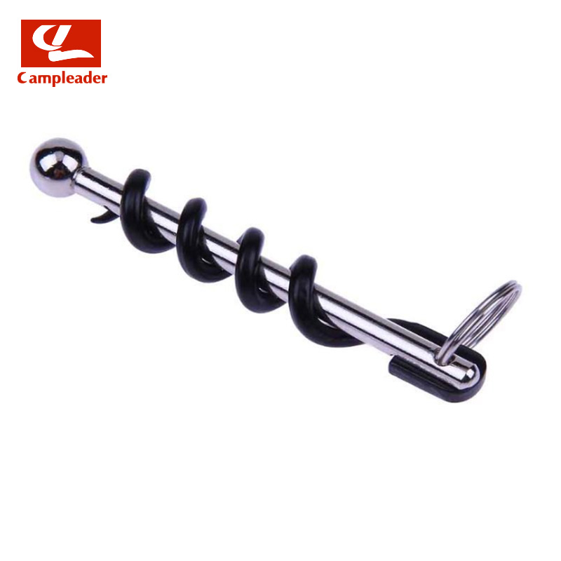 Campleader Outdoor Mini EDC Stainless Steel Cork Screw Red Wine Bottle Opener Keyring Tool Camping Survival Equipment Tool CL137