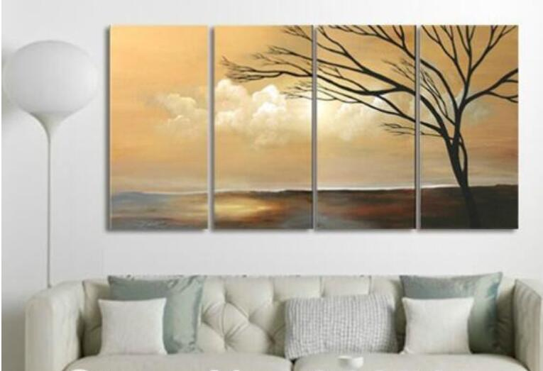 Natural Wall Art popular large hand painted canvas paintings nature-buy cheap large