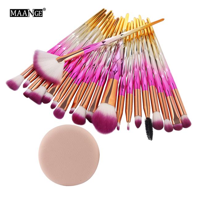 Pro 5-20Pcs Diamond Makeup Brushes Set Fan Powder Foundation Blush Eye shadow Lip Cosmetic Beautiful Make Up Brush Tools