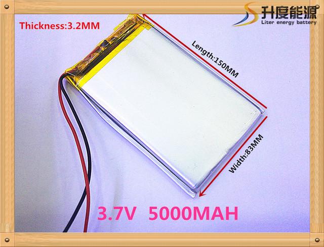 Lojas de Fábrica por atacado 3283150 tablet bateria de 3.7 v bateria de lítio 5000 mAh bateria de polímero de lítio Tablet