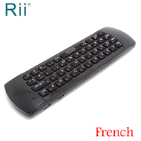 Original Rii Mini i25 Air Mouse 2.4G Wireless Keyboard for Android TV Box, Mini PC, Laptop AZERTY French Keyboard