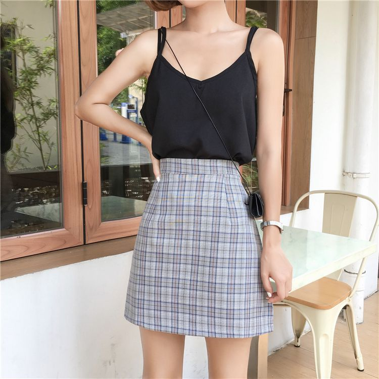 Women Summer Vintage High Waist A-Line Print Skirt Casual Ladies Fashion Gothic Mini Skirts