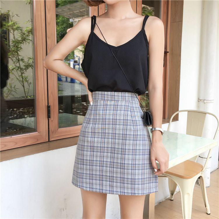 Women Summer Vintage High Waist A-Line Print Skirt Casual Ladies Fashion Gothic Mini Skirts