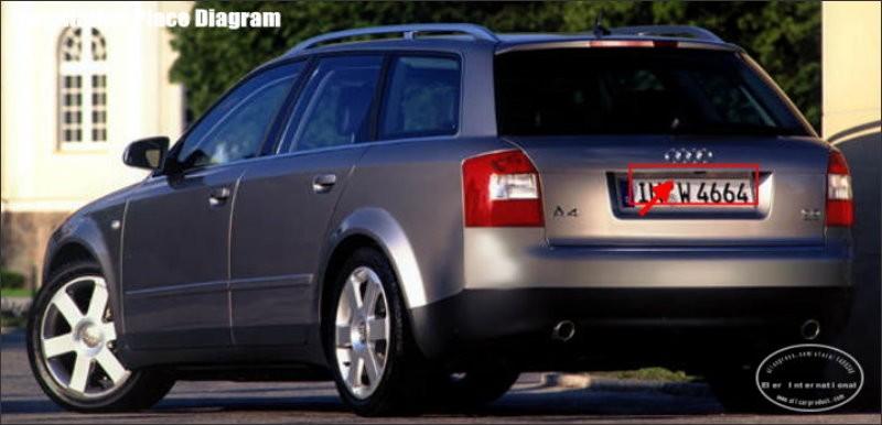 Audi-A4-B5-8D-1994~2001-back-license-plate-lamp