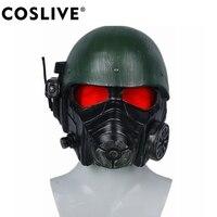 Coslive Veteran шлем рейнджера Fallout 4 косплей маска Взрослый костюм реквизит для Хэллоуина карнавальный костюм аксессуары