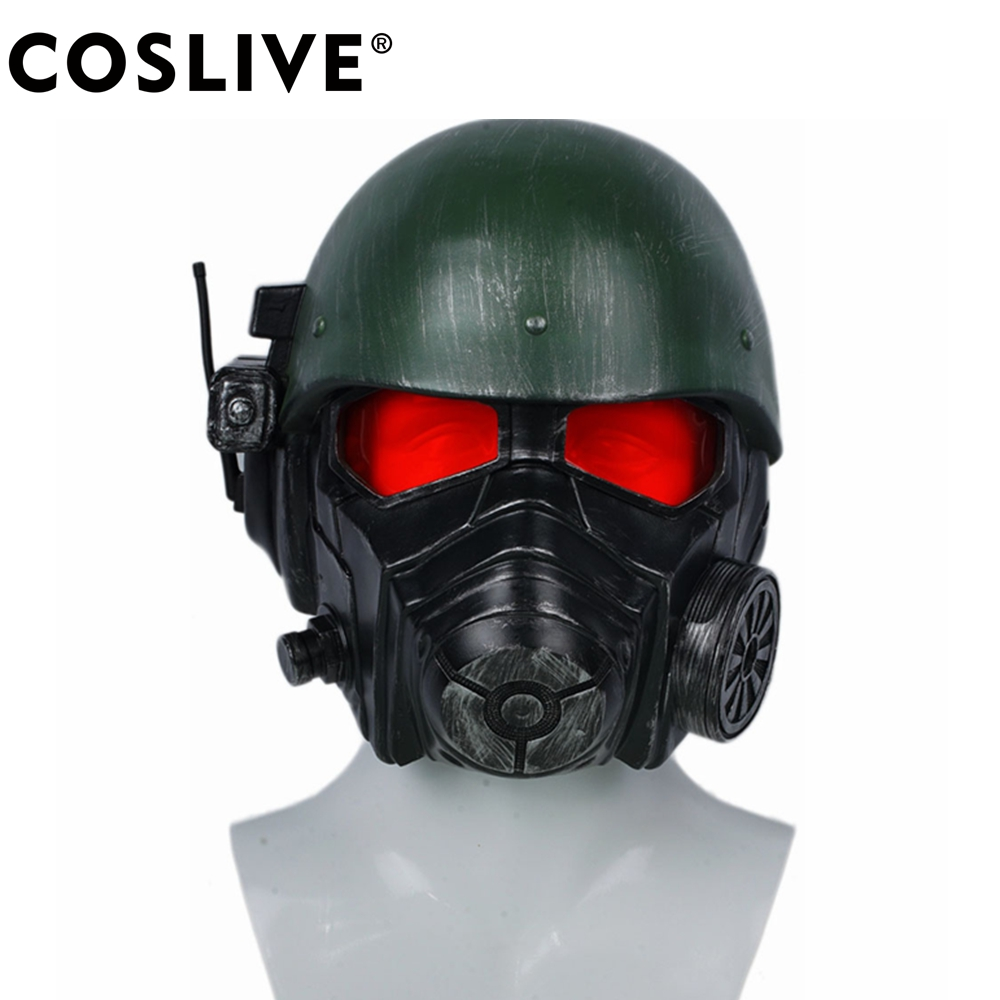 Coslive Veteran Ranger Helmet Fallout 4 Cosplay Mask Adult Costume Props For Halloween Carnival Party Costume Accessories image