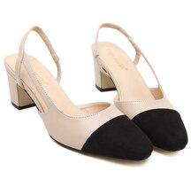 brand same design Classic color block decoration cutout high heels comfortable women shoes empty inside female summer shoes