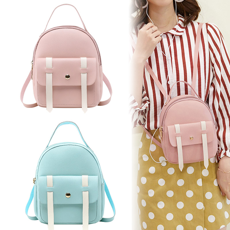 2019 New Fashion Sweet Contrast Color Backpack Women Mini Casual Travel PU Bag Multifunctional Bags WML992019 New Fashion Sweet Contrast Color Backpack Women Mini Casual Travel PU Bag Multifunctional Bags WML99