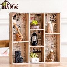 1 Satz Holz Wohnkultur Display Hngen Halter Box Wohnzimmer Zimmer Bro Desktop Aufbewahrungsbox Handwerk Lagerung Regal