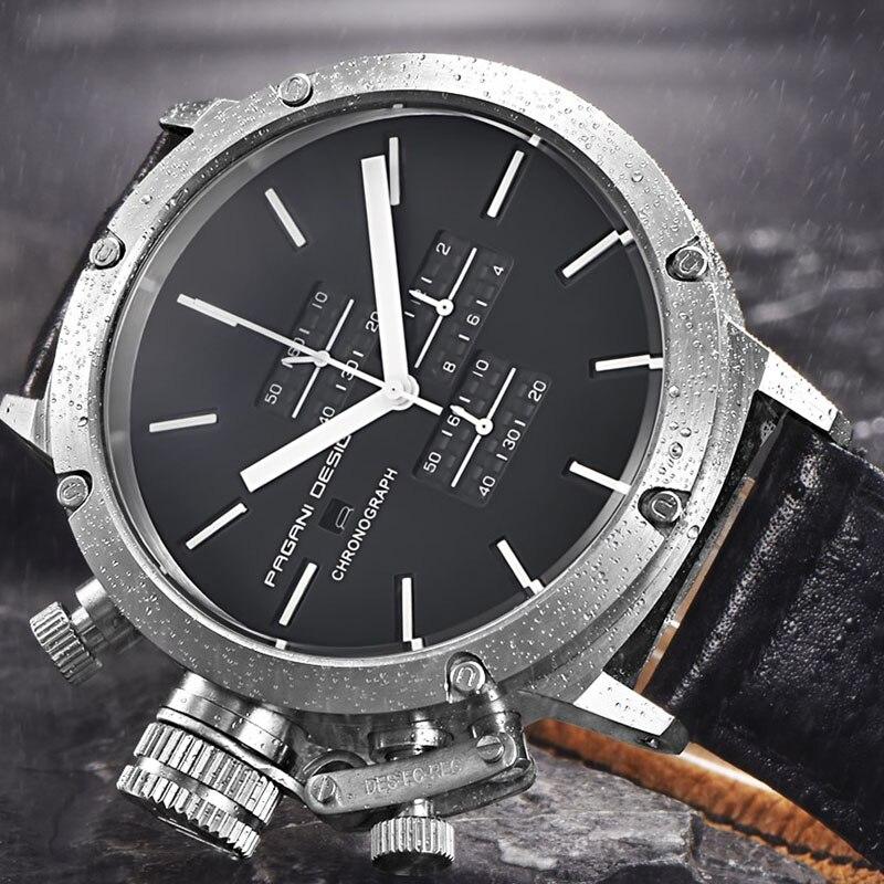 2019 PAGANI DESIGN sport montres hommes mode multifonction plongée chronographe Quartz montres hommes Relogio Masculino cuir montre - 4