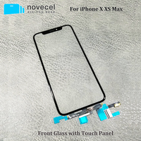 Novecel Original Quality LCD Display Touch Screen Front Outer Glass Panel with Flex Cable For iPhone X XS Replacement Parts