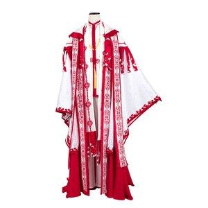 Image 1 - Anime! Spiritpact DuanMuXi Rot Blau Opfer Archaic Priesthood Mantel Kimono Wunderschöne Uniform Cosplay Kostüm Kostenloser Versand