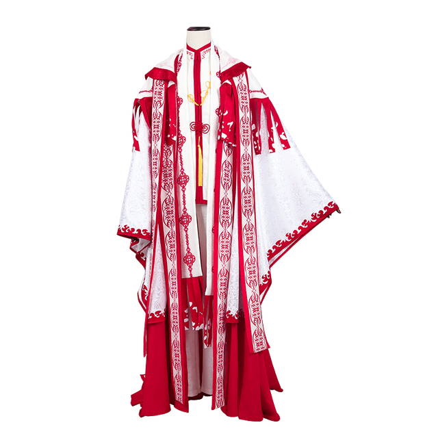 Anime! Spiritpact DuanMuXi Rot Blau Opfer Archaic Priesthood Mantel Kimono Wunderschöne Uniform Cosplay Kostüm Kostenloser Versand