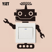 Robot Wall Stickers Interruttore Della Luce Decor Decalcomanie di Arte Murale Nursery Room 7SS0088(China)