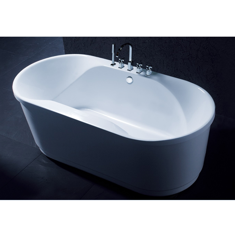 Freestanding simple design round bathtub factory price whirlpool bathtub