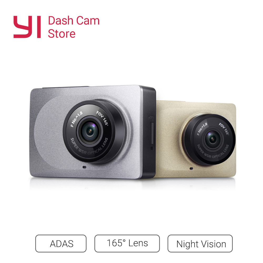YI Smart Dash Camera Video Recorder WiFi Full HD Car DVR Cam Night Vision 1080P 2.7 165 Degree 60fps Camera For Car Recording xiaomi yi smart car dvr 1080p 160 wifi 240mah for android