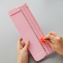 Office Kit A4 A5 Paper Cutter Portable Rotary Paper Trimmer Rolling Scrapbooking Paper Cutting Mat Machine For Photo DIY Craft