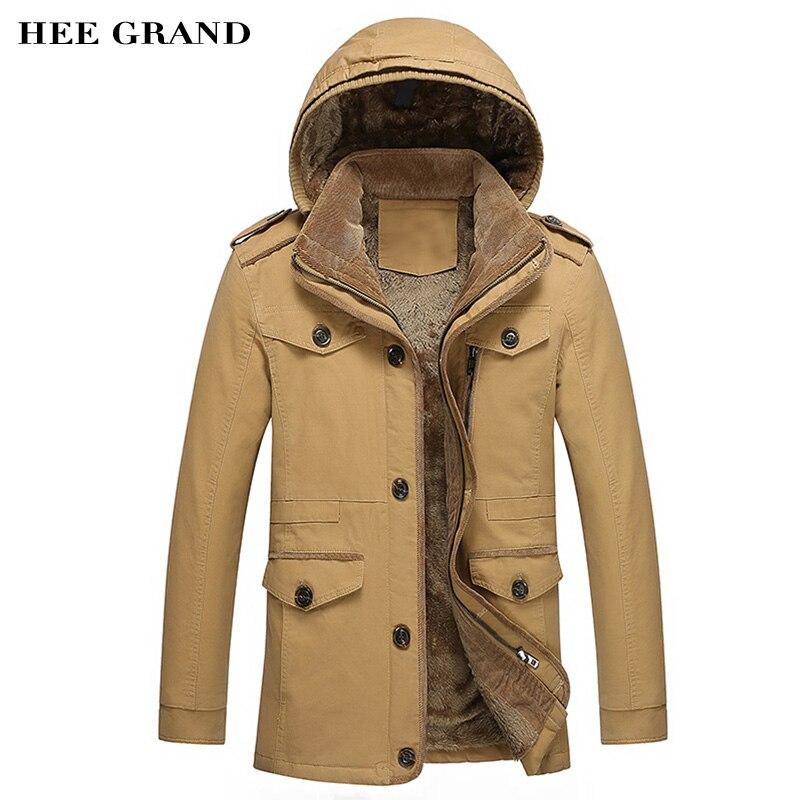 Jacket 2018 homens Novos da Chegada Para o Outono E inverno Espessamento De Algodão Casaco Fashion Quatro Cores Plus Size M-6XL MWM1311