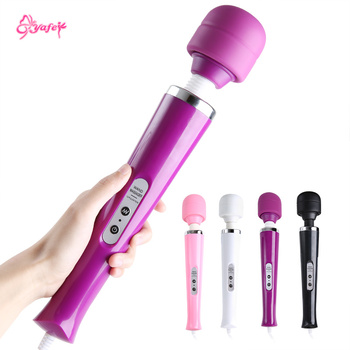 Powerful 10 Speeds Magic Wand Massage AV Stick G-spot Vibrator USB Chargeable Sexy Clit Vibrator Adult Sex Toys for Women erotic g spot clit vibrator for women usb charge av magic wand vibrator sex toys for adults female masturbator intimate goods