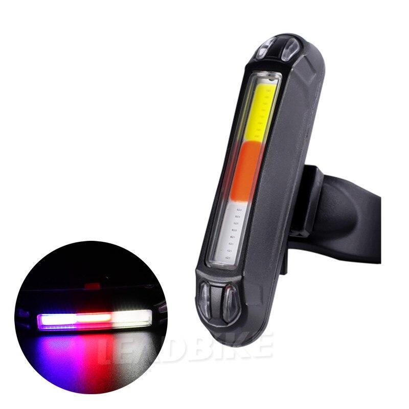 Olověné kolo Zadní světlo Nabíjecí LED světlo USB 3 barvy Cyklistika Bezpečnostní varování Kolo Zadní světlo Noční příslušenství