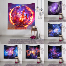 Galaxy Wall Hanging Tapestry Space Psychedelic Wall Tapestry Art Hippie Wall Cloth Tapestries Wall Carpet Throw Rugs Beach Towel
