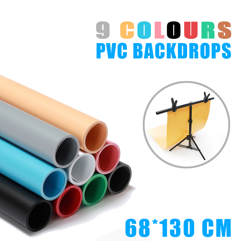 цены Meking 68 x 130cm seven colors PVC Material Anti-wrinkle Backgrounds Backdrop for Photo Studio Photography Background Equipment