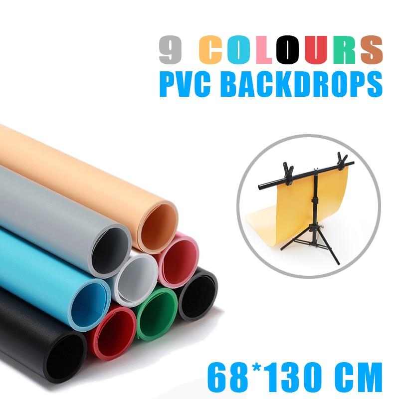 Meking 68x130 cm sieben farben PVC Material Anti-falten Backgrounds Hintergrund für Foto Studio Fotografie Hintergrund Ausrüstung