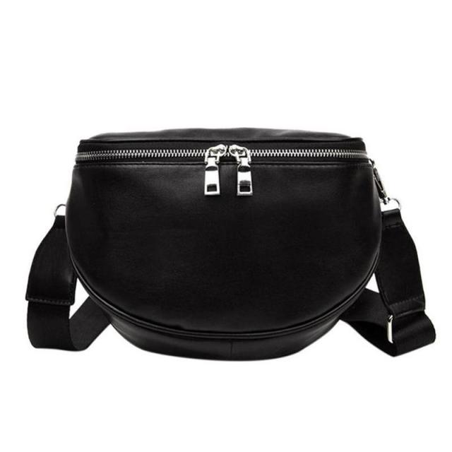 Women Leather Waist Chest Bags Fashionable Casual Belt Shoulder Zipper Crossbody Messenger Chest Bag For Women Girls Sports Bags