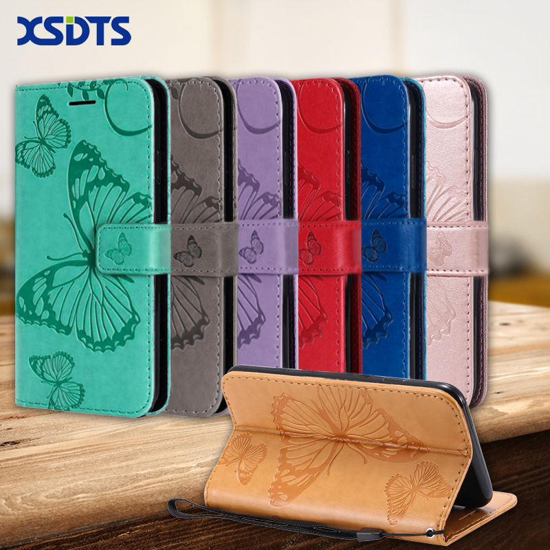 Luxury leather wallet case for huawei y5 y6 prime y7
