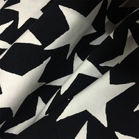 LEO LIN Elastic Cotton Knitted High Elastic Cotton Black And White Printing Color Thick Skirt Fabric