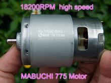 296 W Mabuchi RS 775WC 9013 775VC 8015 DC 12 V 18 V 2.8A 21000 rotasyon RPM 775 yüksek hızlı motor Elektrikli Matkap testere