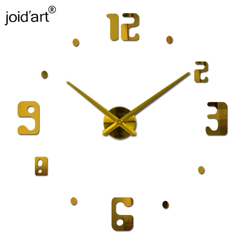 Horké nové nástěnné hodiny moderní design hodiny quartz hodinky jehly akrylové zrcadlo diy samolepka 3d samolepky obývací pokoj freeshipping